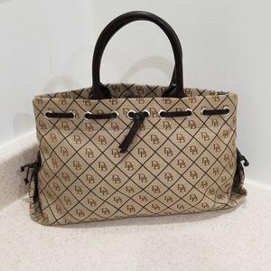 Dooney & Bourke authentic brown and tan satchel